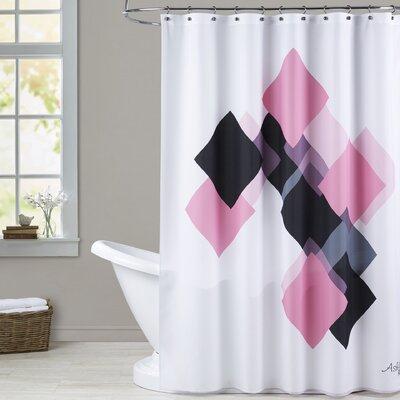Ashlee Rae Geometric Diamond Shower Curtain