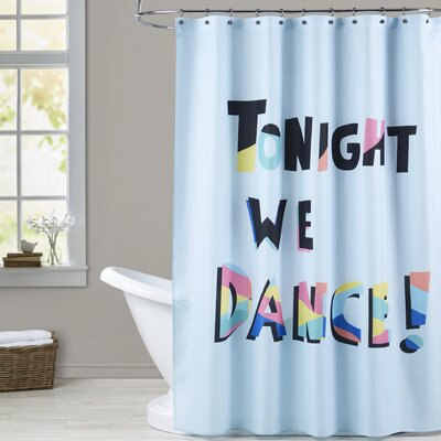 Ashlee Rae Tonight We Dance Print Shower Curtain