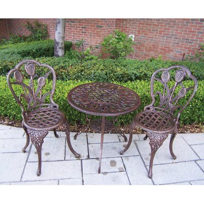 Farrior 3 Piece Bistro Set Finish: Antique Bronze