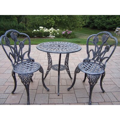 Farrior 3 Piece Bistro Set Finish: Antique Pewter