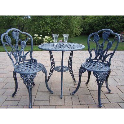 Farrior 3 Piece Bistro Set Finish: Verdi Grey