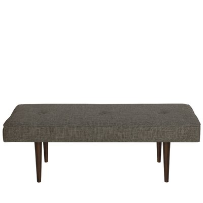 Foweler Tufted Woven Linen Upholstered Bench Upholstery Color: Zuma Charcoal