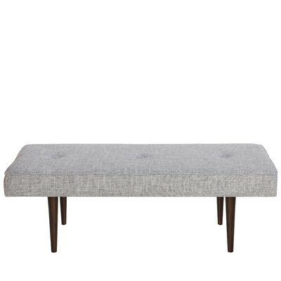 Foweler Tufted Woven Linen Upholstered Bench Upholstery Color: Zuma Pumice