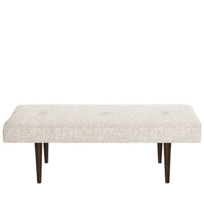 Foweler Tufted Woven Linen Upholstered Bench Upholstery Color: Zuma White
