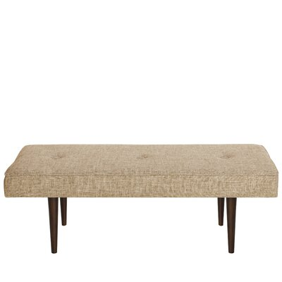 Foweler Tufted Woven Linen Upholstered Bench Upholstery Color: Zuma Linen