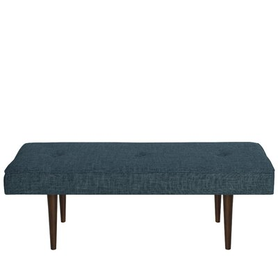Foweler Tufted Woven Linen Upholstered Bench Upholstery Color: Zuma Navy