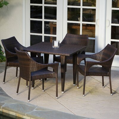 Blackstock 5 Piece Dining Set Color: Multi-Brown