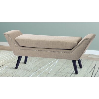 Irving Place Upholstered Bench Upholstery: Beige