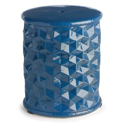 Montpelier Geometric Stool Color: Dark Turquoise