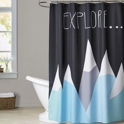 Ashlee Rae Explore Shower Curtain