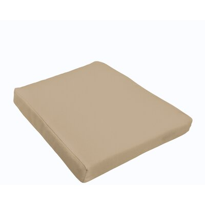 Indoor/Outdoor Dining Chair Cushion Fabric: Beige
