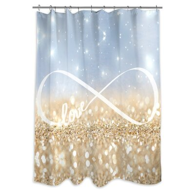 Narberth 'Infinite Love Sign' Shower Curtain