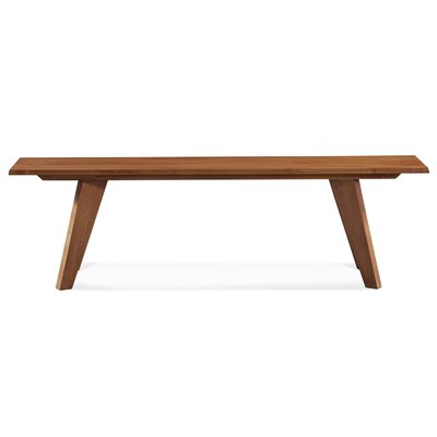 Giunta Bench Color: Chocolate, Size: 18.5 H x 60 W x 14 D
