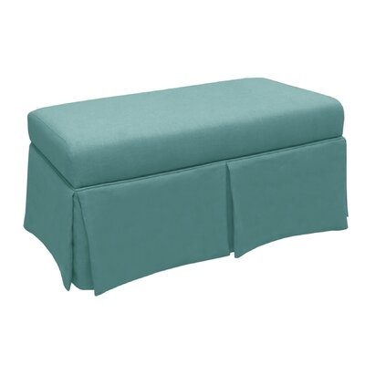 Arbor Glen Linen Wood Skirted Storage Bench Color: Laguna