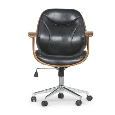 Slover Desk Chair Upholstery: Black