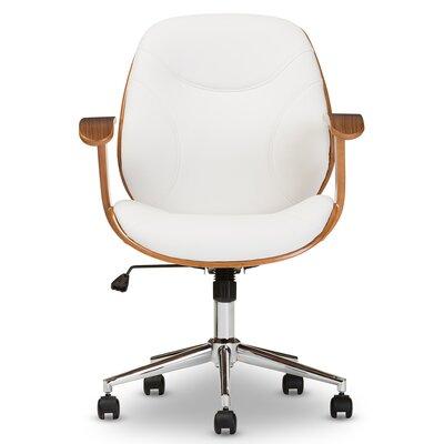 Slover Desk Chair Upholstery: White