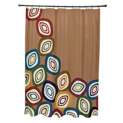 Hippolyte Falling Leaves Geometric Print Shower Curtain