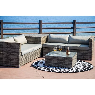 Vankirk 4 Piece Sectional Set with Cushions