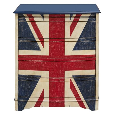 Hack Union Jack Accent 4 Drawer Chest