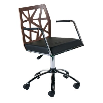 Malvern Office Chair Color (Upholstery/Frame): Walnut, Arms: Yes
