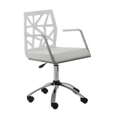 Malvern Office Chair Color (Upholstery/Frame): White, Arms: Yes
