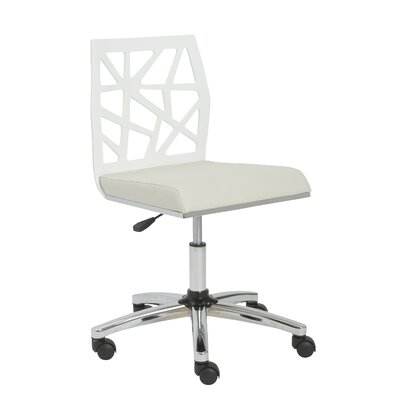 Malvern Office Chair Color (Upholstery/Frame): White / White, Arms: No
