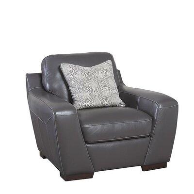Hagan Leather Armchair Upholstery: Slate