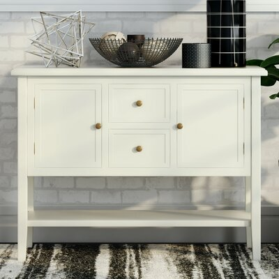 Christopherson Console Table Color: Ivory