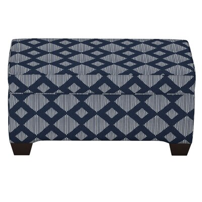 Suber Linen Upholstered Storage Bench Upholstery: Indigo