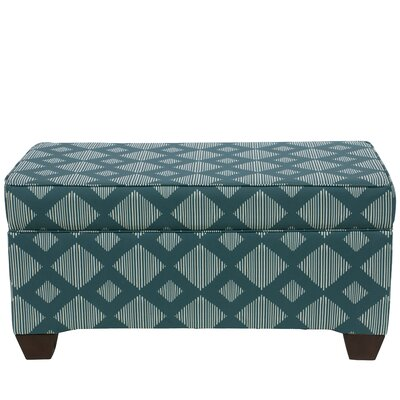 Suber Linen Upholstered Storage Bench Upholstery: Teal