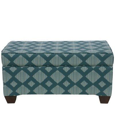 Suber Linen Upholstered Storage Bench Upholstery: Teal