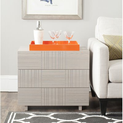 Funderburg 3 Drawer Accent Chest Color: Grey