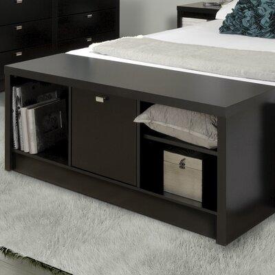 Oleanna Cubbies Storage Bench Color: Black