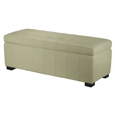 Sinope Leather Storage Bench Color: Off-White