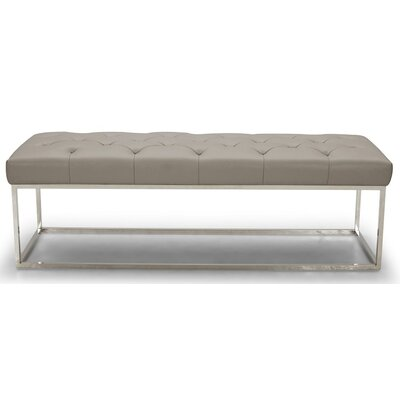 Secor Lux Faux Leather Bench Upholstery: Gray