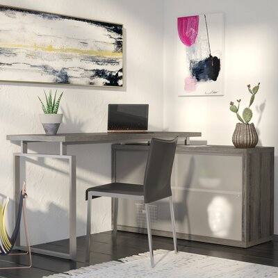 Beaudry L-Shaped Desk Finish: Dark Taupe