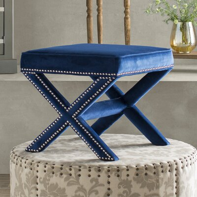 Rivet Vanity Stool Color: Navy
