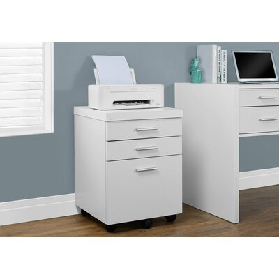 Canipe 3-Drawer Mobile Lateral File Finish: White