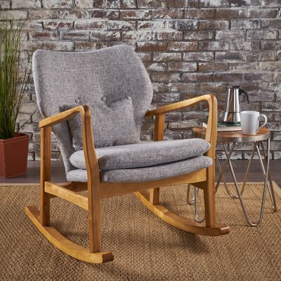 Saum Fabric Rocking Chair Fabric: Light Gray
