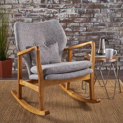 Saum Fabric Rocking Chair Fabric: Light Gray