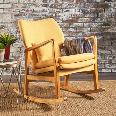 Saum Fabric Rocking Chair Fabric: Muted Yellow