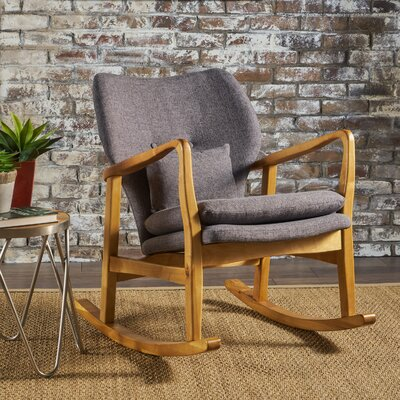 Saum Fabric Rocking Chair Fabric: Gray