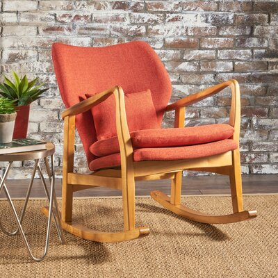 Saum Fabric Rocking Chair Fabric: Muted Orange