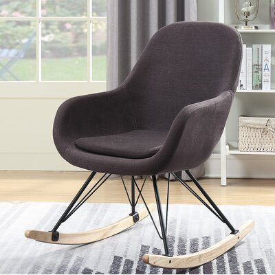 Decker Rocking Chair Color: Dark Gray