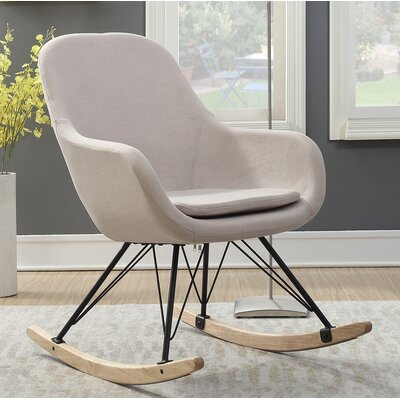 Decker Rocking Chair Color: Beige