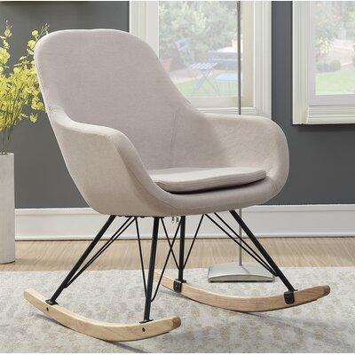 Decker Rocking Chair Color: Beige