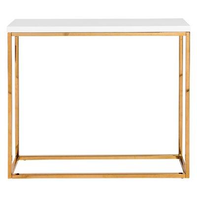 Mariotti Studio Console Table Color: White/Gold