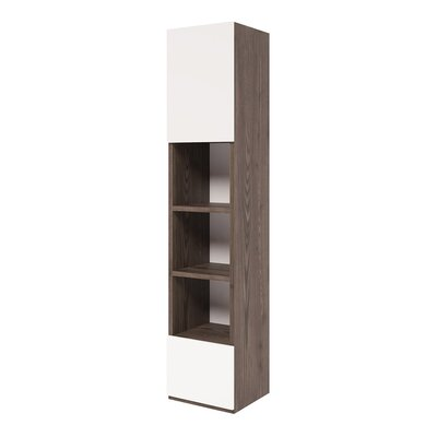 Germaine Convertible Cabinet Standard Bookcase Color: Semi Gloss White and Dark Wood