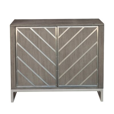 Leonia 2 Door Accent Cabinet Color: Gray