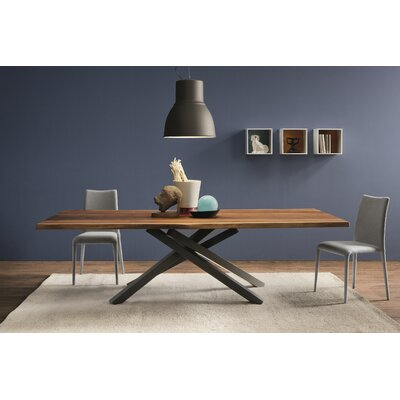 "Pechino Dining Table Size: 29.5"" H x 41.7"" W x 74.8"" L"